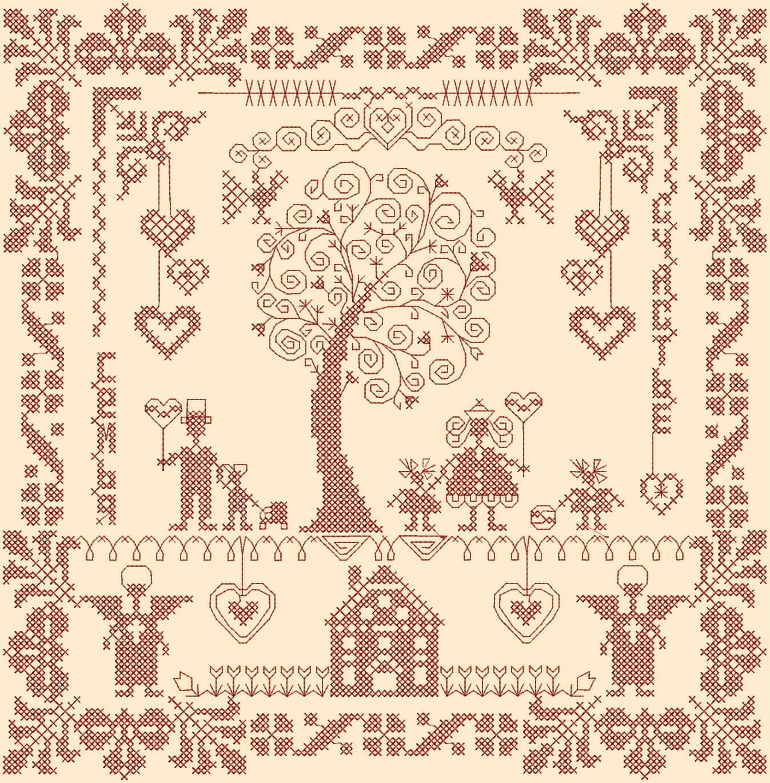 Схема вышивка семейного оберега 288